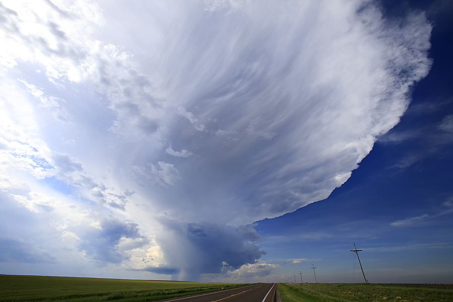 31 May 2015:  A supercell begins to form near Goodland, Kansas during a storm chasing trip to The Great Plains.