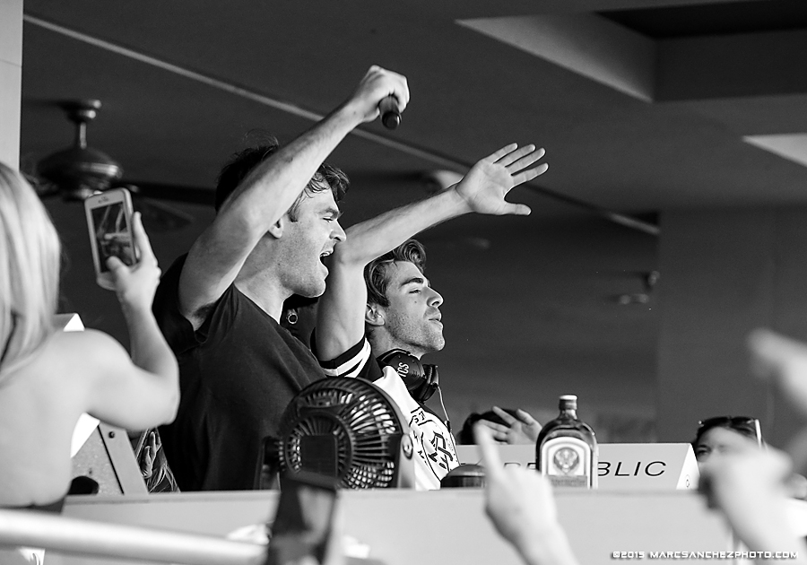 11 October 2015:  The Chainsmokers perform a set at the Wet Republic Ultra Pool inside the MGM Grand in Las Vegas, Nevada.