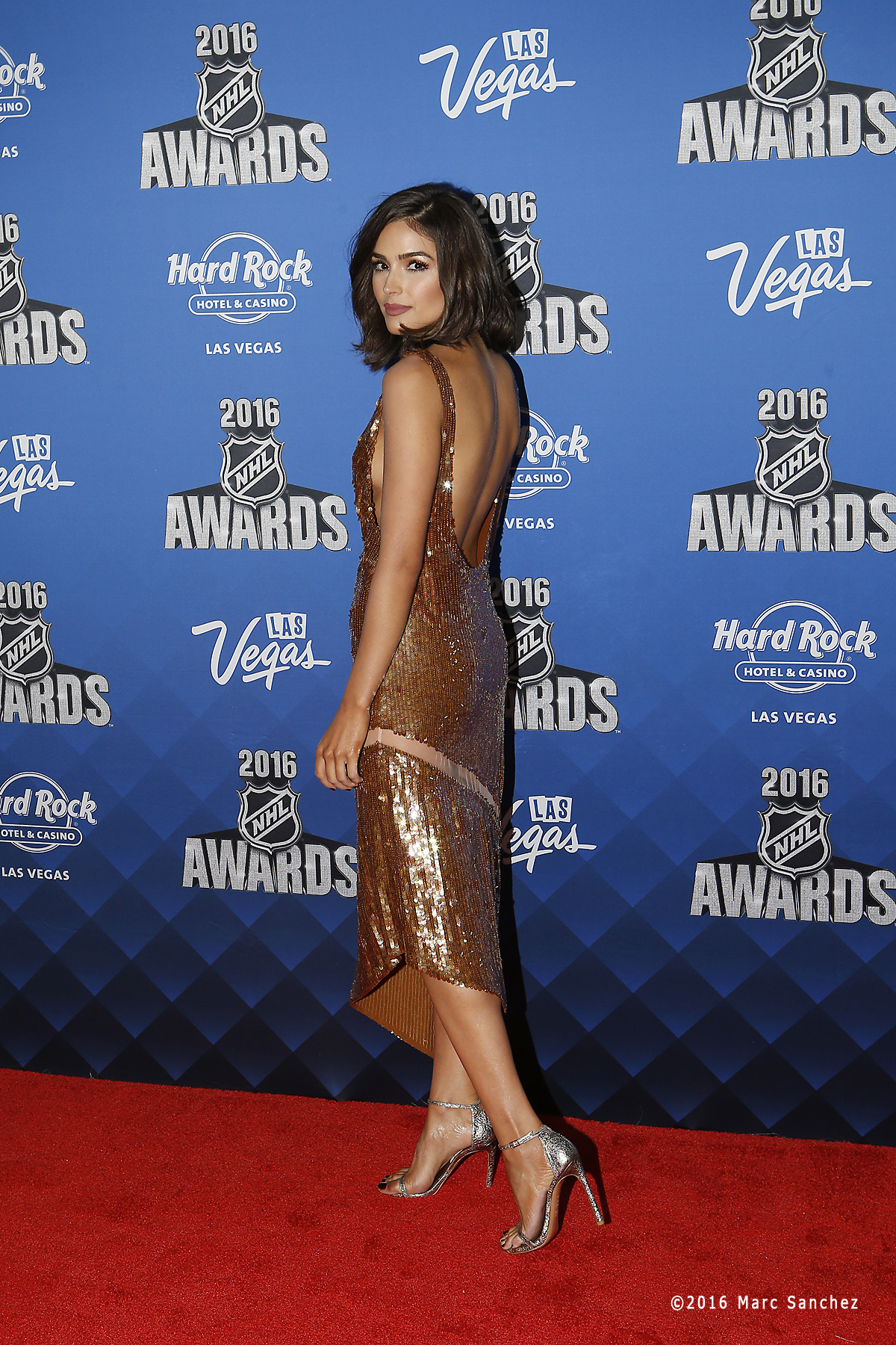 2016 June 22: Entertainment broadcaster Oliva Culpo poses for a photograph on the red carpet during the 2016 NHL Awards at the Hard Rock Hotel and Casino in Las Vegas, Nevada. (Photo by Marc Sanchez/Icon Sportswire)