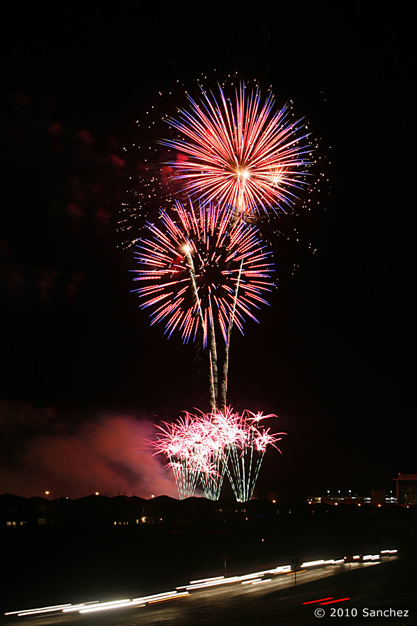 04 July 2010: = during a fireworks show at Alliante Hotel and Casino in North Las Vegas, Nevada.