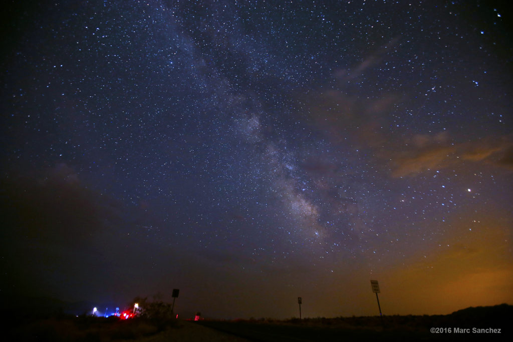 30 July 2016: A general view of the Milky Way near St. Thomas, Nevada.