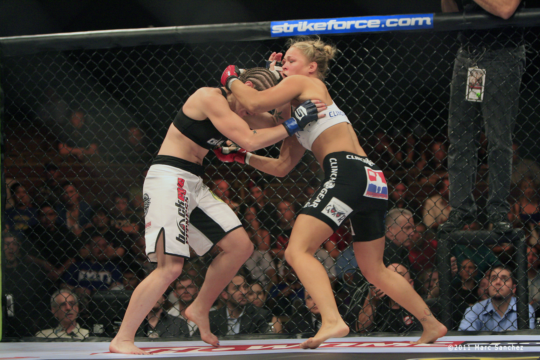 12 August 2011: Ronda Rousey during the Strikeforce Challengers 4 at The Pearl at The Palms Casino Resort in Las Vegas, Nevada. Rousey would win the bout against Sarah D'Alelio with a tapout in the first round.