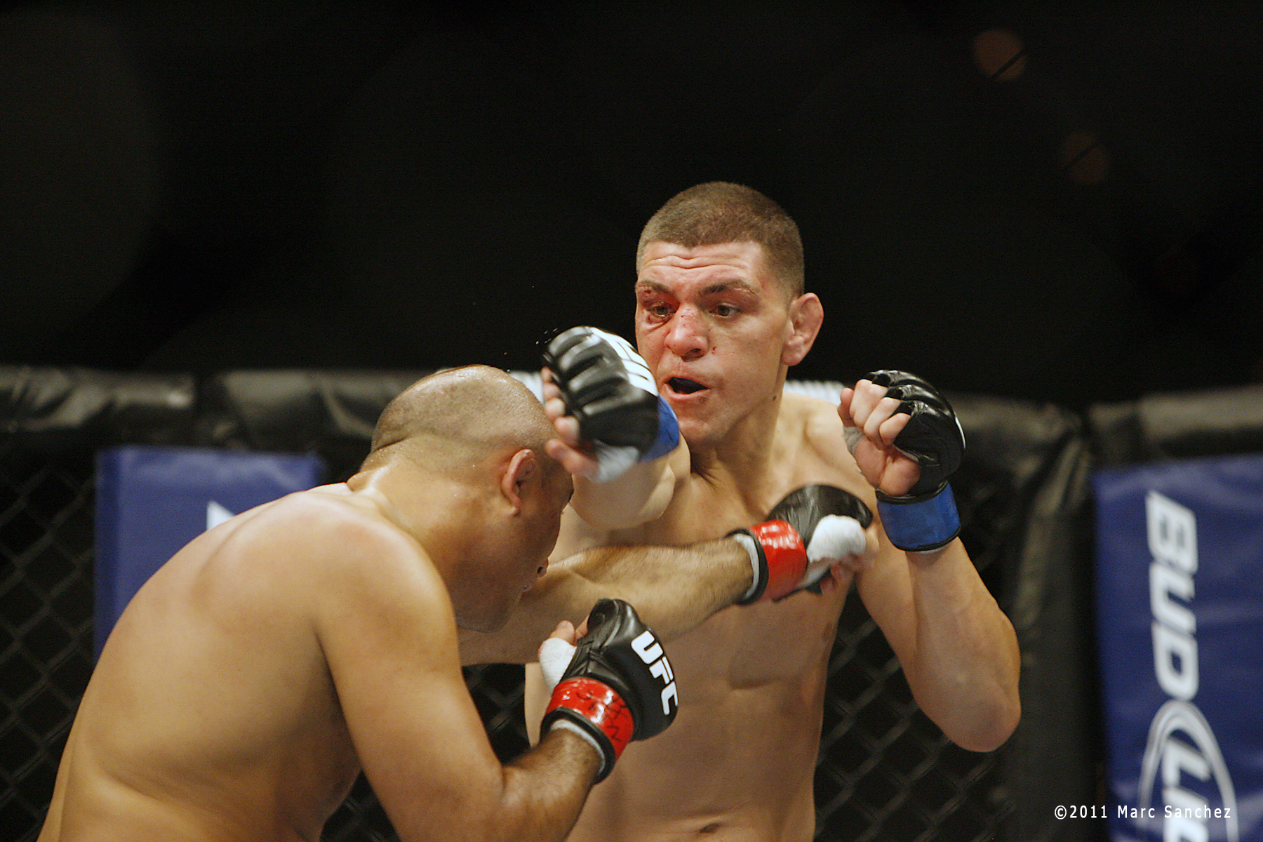 29 October 2011: Nick Diaz during the UFC 137 at the Mandalay Bay Arena in Las Vegas, Nevada.