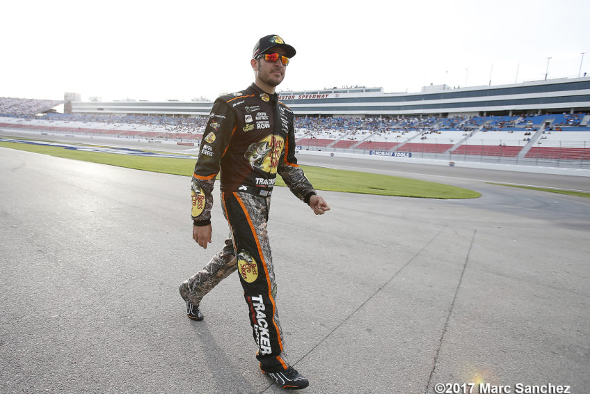 LAS VEGAS, NV - MARCH 10: Martin Truex Jr (78) Furniture Row Racing Toyota Camry walks along pit road before qualifying for the Kobalt 400 NASCAR Monster Energy Cup Series race on March 10, 2017 at Las Vegas Motor Speedway in Las Vegas, NV.  (Photo by Marc Sanchez/Icon Sportswire)