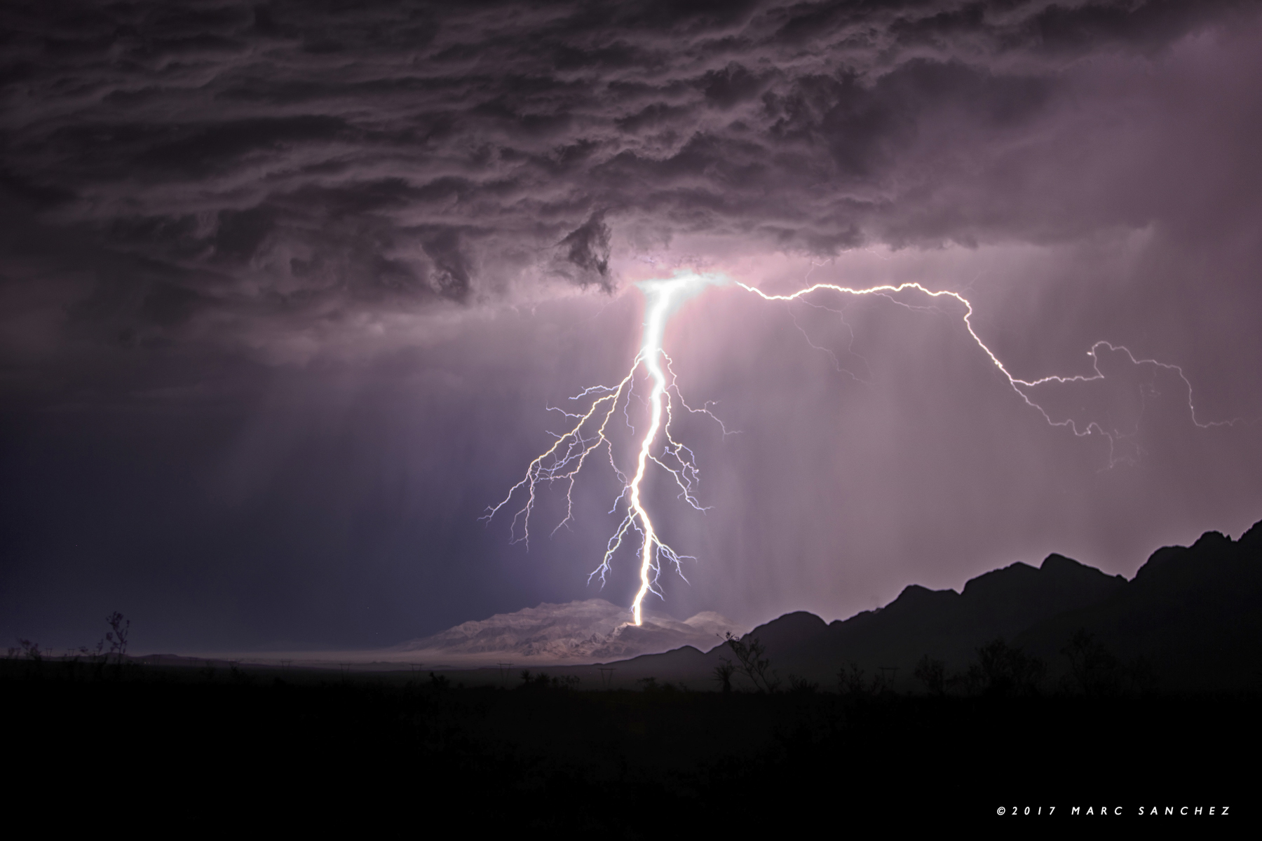 MOAPA, NV - JULY 12: A thunderstorm intensifies near the Moapa Indian Reservation on July 12, 2017.  (Photo by Marc Sanchez)